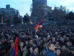 Участники митинга в Ереване почтили минутой молчания память жертв армянских погромов в Сумгаите