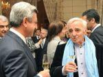 Серж Саргсян поздравил всемирно известного шансонье Шарля Азнавура с 89-летием