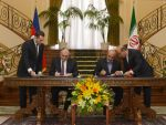 Четыре межправительственных соглашений было подписано сегодня между Ираном и Азербайджаном