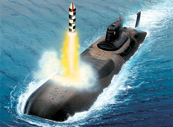первая подводная лодка с ядерными ракетами