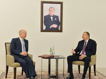 Министр иностранных дел Великобритании встретился с президентом Азербайджана