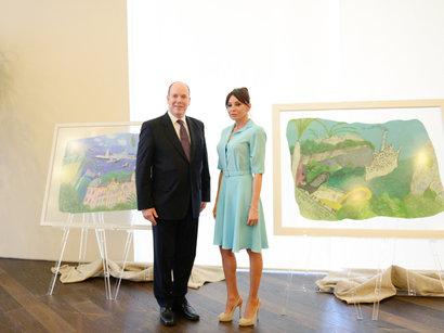 Мехрибан Алиева - президент Фонда Гейдара Алиева, а также первая леди страны, вчера встретилась с Альбертом II – князем Монако.
