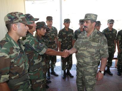 Министр обороны, генерал – полковник Азербайджана принял у себя высших военных чинов страны